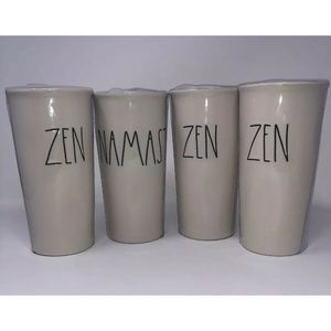 Rae Dunn Namaste and ZEN Tumbler Bundle NEW!